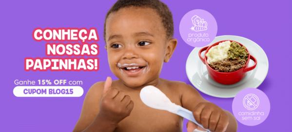 Cupom de desconto de 15% para as papinhas de bebê (CUPOM: BLOG15).